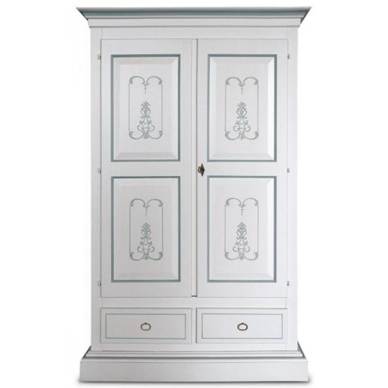 Armadio Laccato Bianco : Armadio laccato bianco decorato italian decor outlet