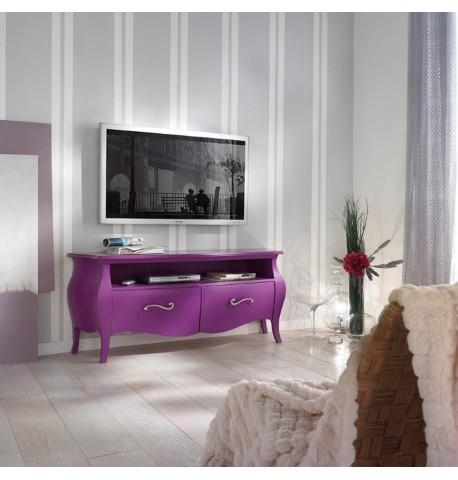 Porta tv bombato 2 cassetti - Italian Decor Outlet